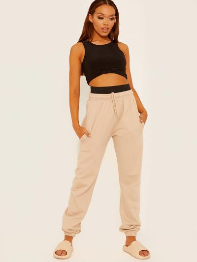 Joggers With High Waist Elastic Band